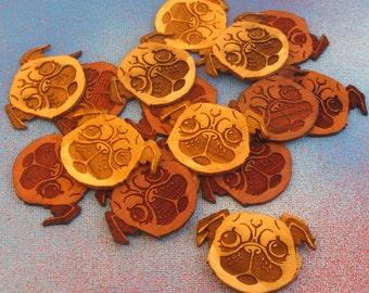 Wooden Pug Sticker