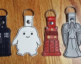 Dr Who Key Chain Set