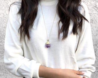 Purple Crystal Amethyst Necklace