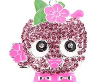 Adorable Shopkins Childrens Chunk Bead Bubblegum Rhinestone Pendant
