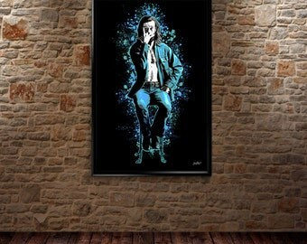 George Carlin fine-art style poster print by Jared Swart