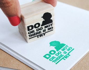 do or do not there is no try stamp, Yoda quote, do or do not there is no try star wars, star wars stamp, Star Wars Yoda, star wars pattern