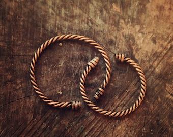 Viking lovers bracelets • Celtic bracelet • Viking jewelry • Celtic cuff • Viking cuff • Nordic jewelry • Viking torc • Couple bracelets