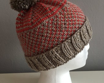 Orange and Gray Ombre Hat