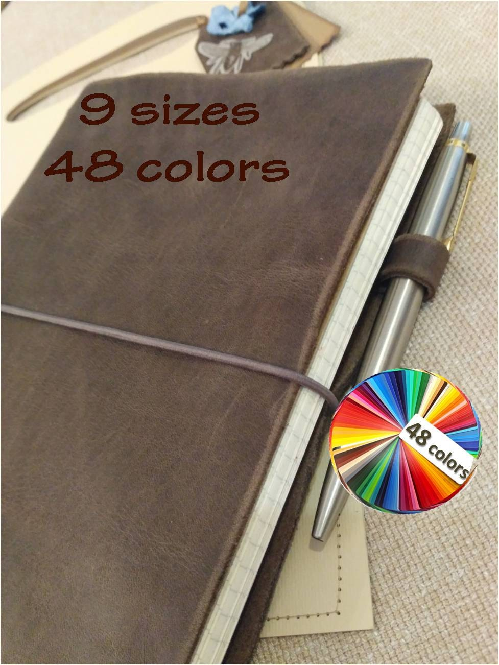 Hobonichi Cover A5 A6 Notebook Cousin Planner Leatherposition Book  Folio Choice Of 15 Sizes And
