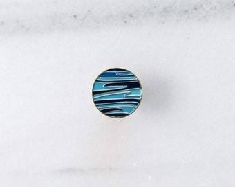 Planet NEPTUNE Pin - Enamel Pin, Lapel pin, Pins, Enamel Pins, Pin, Planet pin, Gold enamel pin, Soft enamel pin, Planet pin.