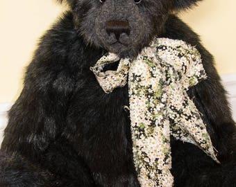 """Duffy, 22"""" Faux Fur Artist Teddy Bear by Patricia Bruce"""
