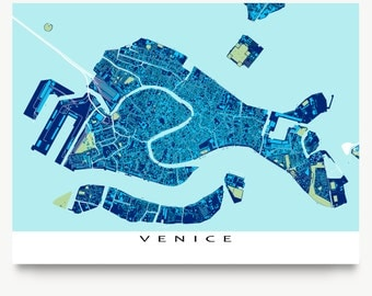 Venice Italy, Venice Map, Venezia, Travel Maps, Blueprint Art