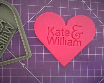 Heart Cookie Cutter | Wedding Cookie Cutter | Personalized | Cookie Cutter | Love Cookie Cutter | 3D Printed Custom Cookie Cutter,