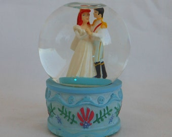 1990s Disney The Little Mermaid Wedding Ariel and Eric Mini Water Globe Snow Globe Snowglobe