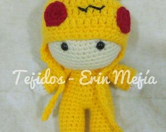 Child Pokemon Pikachu dress | Amigurumi | Snowman Crochet fabric