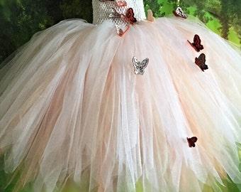 Custom made FLOWERGIRL dress, FAIRY dress, Butterfly dress, Tulle tutu, Bridemaid dress, party dress, Cosplay, dress up, Wedding, Bridal