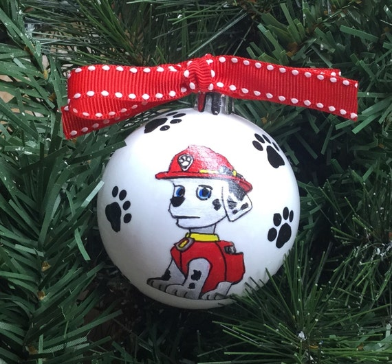 Personalized Paw Patrol Characters Shatterproof Christmas Ornament