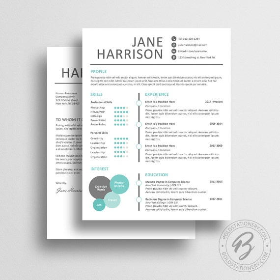 Creative resume template 10 cover letter word by for Free creative cover letter templates