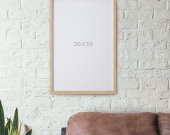 20x30 POSTER Frame *NO GLASS* Natural Wood Poster Frame  Art Frame Photo Frame Large Poster Frame Large Frame Elegant frames