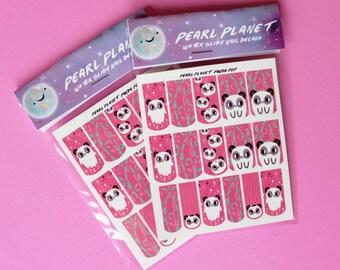 PANDA POP PACK - Kawaii Cute Panda Water Slide Nail Wraps, Original Illustration!