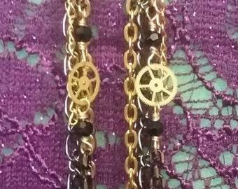 steampunk bullet earrings