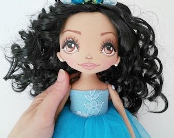 Princess Dolls Ragdolls Bridesmaid Gifts for daughter Handmade Babydolls Textile dolls Interior dolls Cloth dolls Soft toys Something blue
