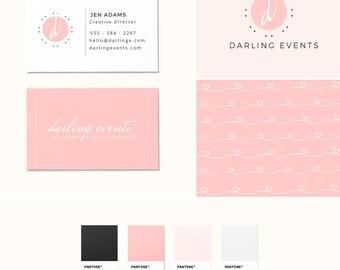 Pre-Made Branding Kit - Logo Design - Business Cards - Pattern Design - Pink Branding