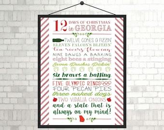 12 Days of Christmas in Georgia - DIGITAL