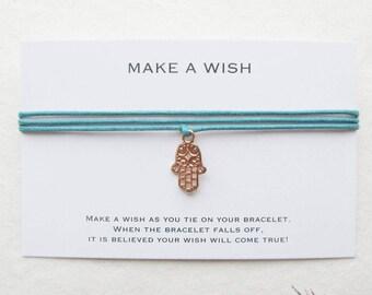 Wish bracelet, make a wish bracelet, hamsa bracelet, yoga bracelet