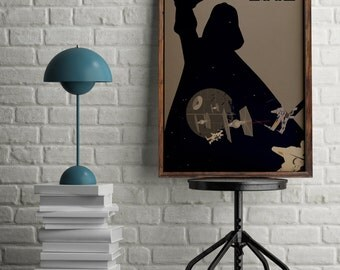 Star wars poster, Darth Vader poster for wall decor, gift for him, Star Wars gift