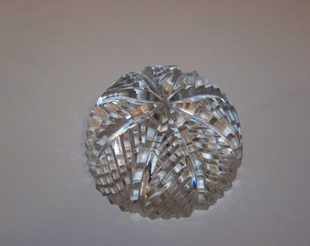 Pressed Glass Domed Paperweight