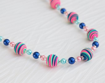 Funky Neon Beaded Necklace