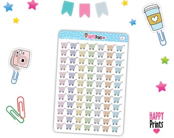 HP 021) -- Shooping Grocery Cart Planner Stickers
