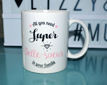 "Mug ""Super - sister"" Cup beautiful - sister birthday gift, personalized Christmas"