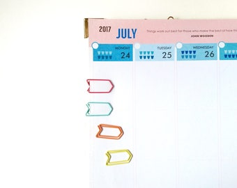 Colorful Page Flags Arrow Paper Clip Bookmark for your Planner • Pack of 4