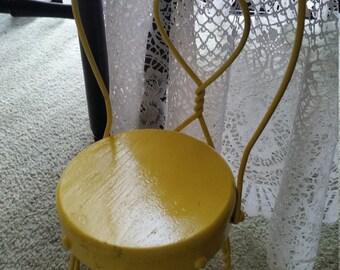 Miniature Ice Cream Chair, Doll Chair, Yellow