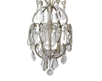 Vintage Chandelier Antique chandelier Crystal chandelier Italian Chandelier Lighting Glass Chandelier Antique lamp Antique Italian light