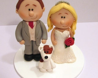 Bride And Groom Wedding Cake Topper, Personalised Wedding Topper, Custom Made Cake Decoration, Gift