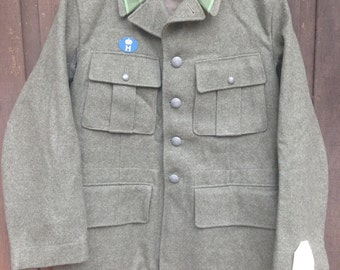 Vintage 1940's Swedish Military Gray Wool Jacket Coat / *Deadstock* / Men's Small - see measurements