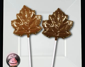 Fall Party Favor, Fall Wedding Favor, Maple Leaf Lollipop, Leaf Wedding Favor, Fall Candy, Chocolate Leaf, Autumn Wedding, Fall Theme, Canad