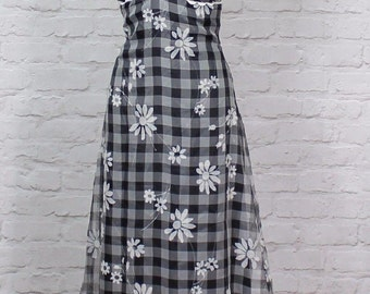 Vintage Dress Gown 80s Retro Victorian Style Evening Wedding Party Boho UK 8...US 4