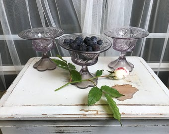 Set of Three Compote/Dessert Dishes