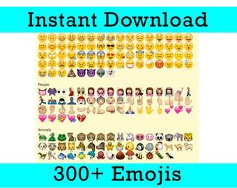 300+ Emoji Photo Booth Props - Printable - High Resolution - DIY