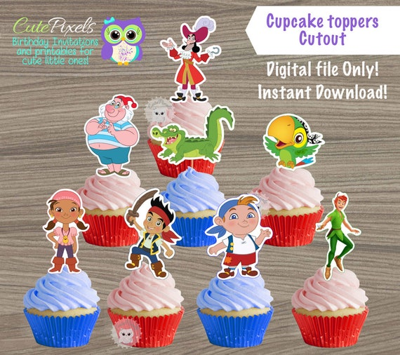 Jake and the Neverland Pirates cupcake toppers Princess Belle