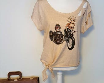 Vintage Babe Cut Out Shirt