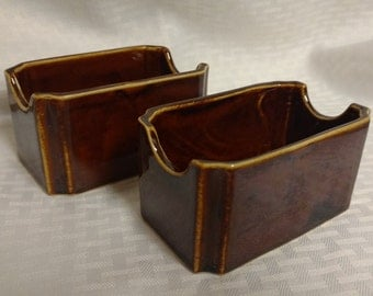 One (1) HALL 719 Vintage Brown Sugar Packet Holder