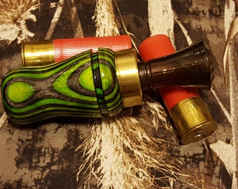 Duck Call (Green and Grey Spectraply) - Hunting Call -