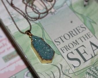 Aqua Geode Necklace
