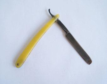 Straight Razor Cut Throat Razor Solingen Biedermeier Made in Germany Razor Blade Round Point 42 3/8