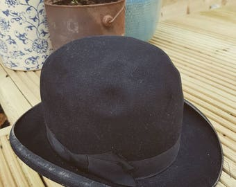 Vintage bowler hat size 7 by G A Dunn & Co