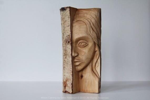 Lunar - Hand Carved Woode...
