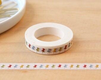 Mini Masking tape pin, Thumbtack, Washi tape, masking tape, decorative tape, scrapbooking