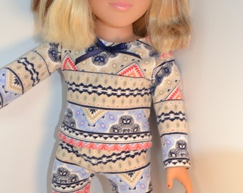 Beautiful Blue Pajamas for Your 18 inch Doll