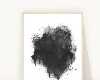 Abstract Poster, Abstract Art, Minimalist Art, Abstract Art Print, Printable Art, Black Abstract, Wall Art, Instant  Download, Wall Decor